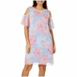 Nwt ronni Nicole floral cold shoulder dress